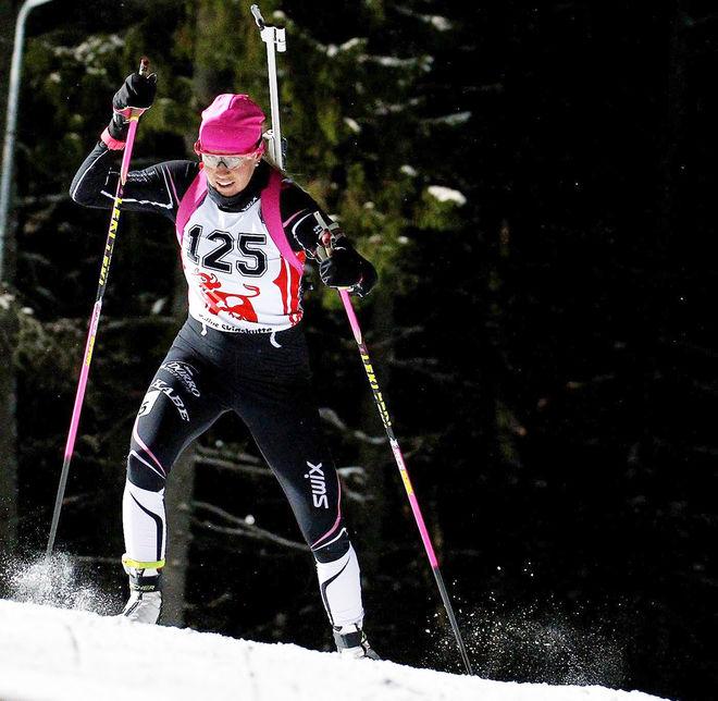 INGELA ANDERSSON tog SM-guldet i frånvaro av OS-åkarna i damklassen. Foto: HÅKAN BLIDBERG