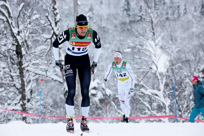 JIMMIE JOHNSSON vann Bessemerloppet i Högbo före Rikard Tynell. Foto/rights: KJELL-ERIK KRISTIANSEN/KEK-stock