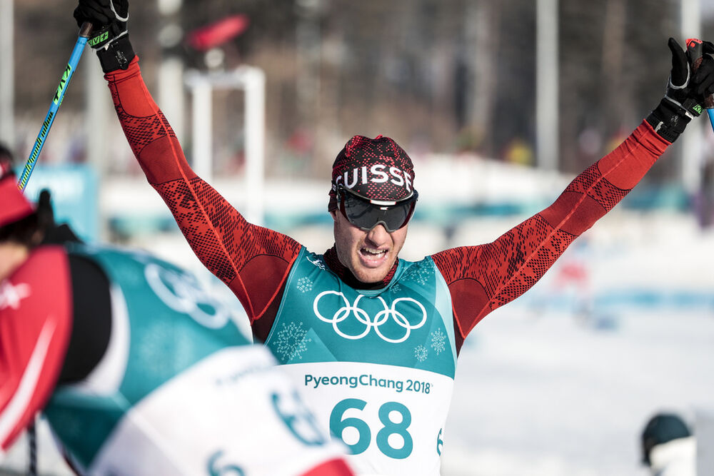 16.02.2018, Pyeongchang, Korea (KOR):Dario Cologna (SUI) - XXIII. Olympic Winter Games Pyeongchang 2018, cross-country, 15km men,  Pyeongchang (KOR). www.nordicfocus.com. © Modica/NordicFocus. Every downloaded picture is fee-liable.
