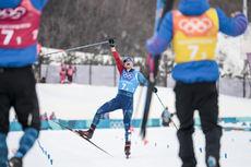 18.02.2018, Pyeongchang, Korea (KOR):Adrien Backscheider (FRA) - XXIII. Olympic Winter Games Pyeongchang 2018, cross-country, 4x10km men,  Pyeongchang (KOR). www.nordicfocus.com. © Modica/NordicFocus. Every downloaded picture is fee-liable.