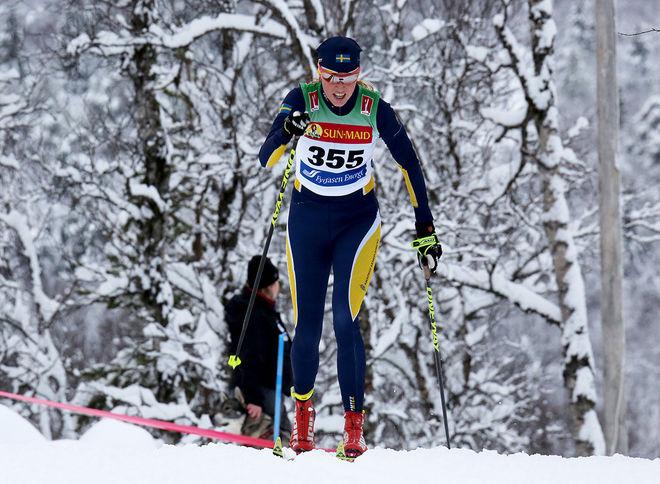 MARIA GRÄFNINGS vann Tartu Maraton med ett imponerande lopp. Hennes första seger i Worldloppet för säsongen. Foto/rights: KJELL-ERIK KRISTIANSEN/KEK-stock
