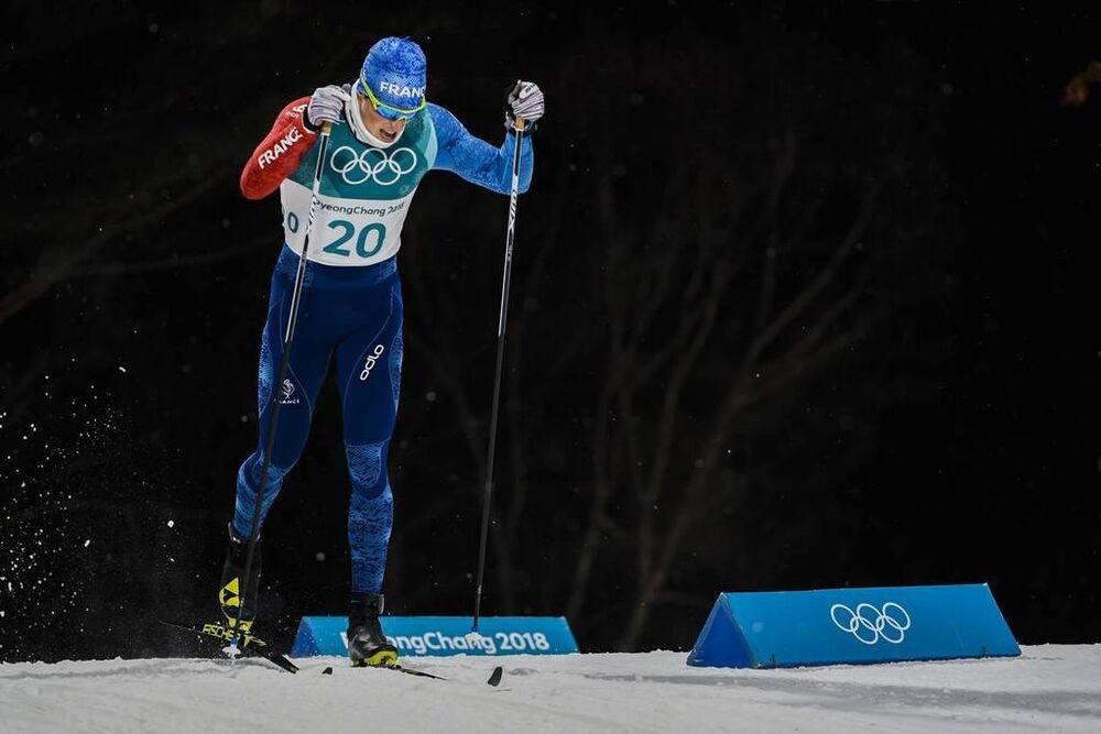 13.02.2018, Pyeongchang, Korea (KOR):Lucas Chanavat (FRA) - XXIII. Olympic Winter Games Pyeongchang 2018, cross-country, individual sprint,  Pyeongchang (KOR). www.nordicfocus.com. © Thibaut/NordicFocus. Every downloaded picture is fee-liable.