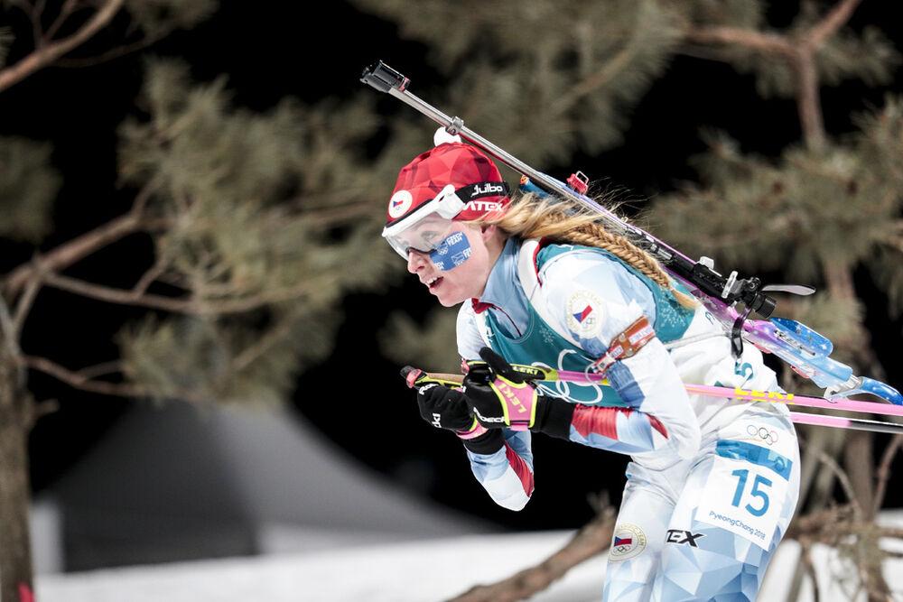 12.02.2018, Pyeongchang, Korea (KOR):Marketa Davidova (CZE) - XXIII. Olympic Winter Games Pyeongchang 2018, biathlon, pursuit women, Pyeongchang (KOR). www.nordicfocus.com. © Modica/NordicFocus. Every downloaded picture is fee-liable.