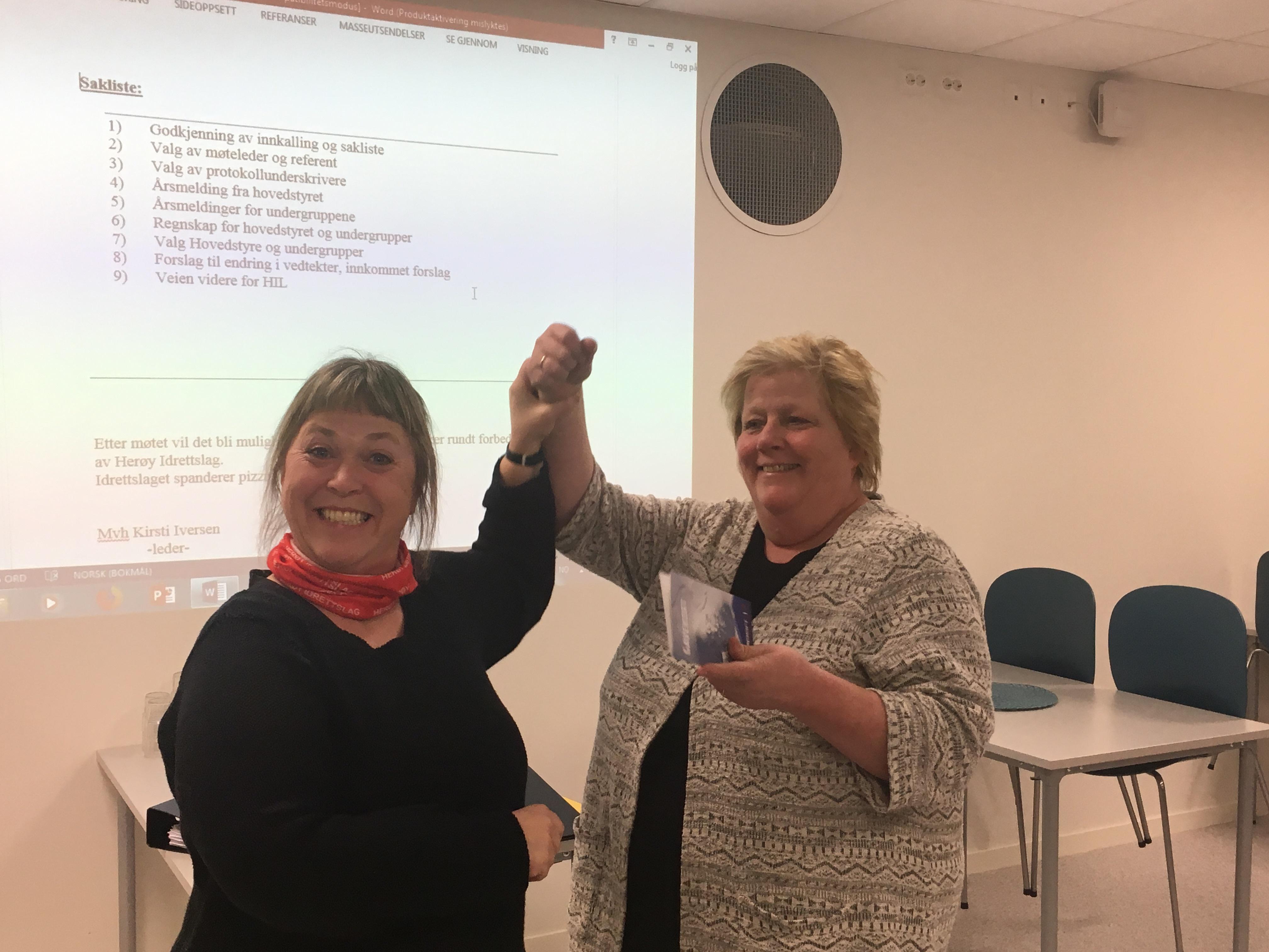 Årsmøte i Herøy 2018_Astrid takkes av leder