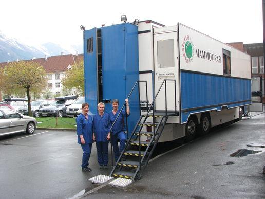 Mammografibussen og radiografer