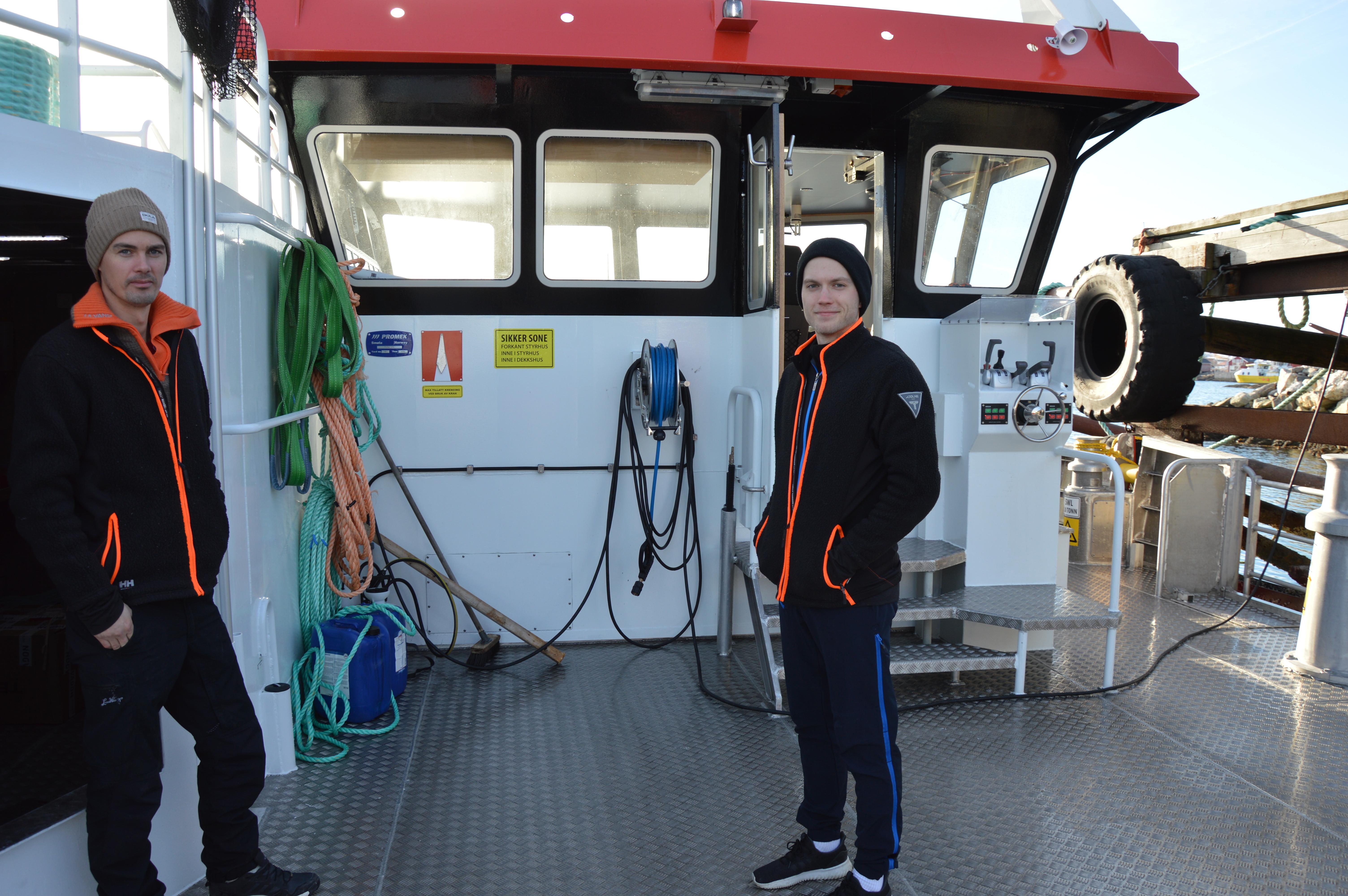 Ny båt til Seløy Sjøfarm_Thomas og Sondre