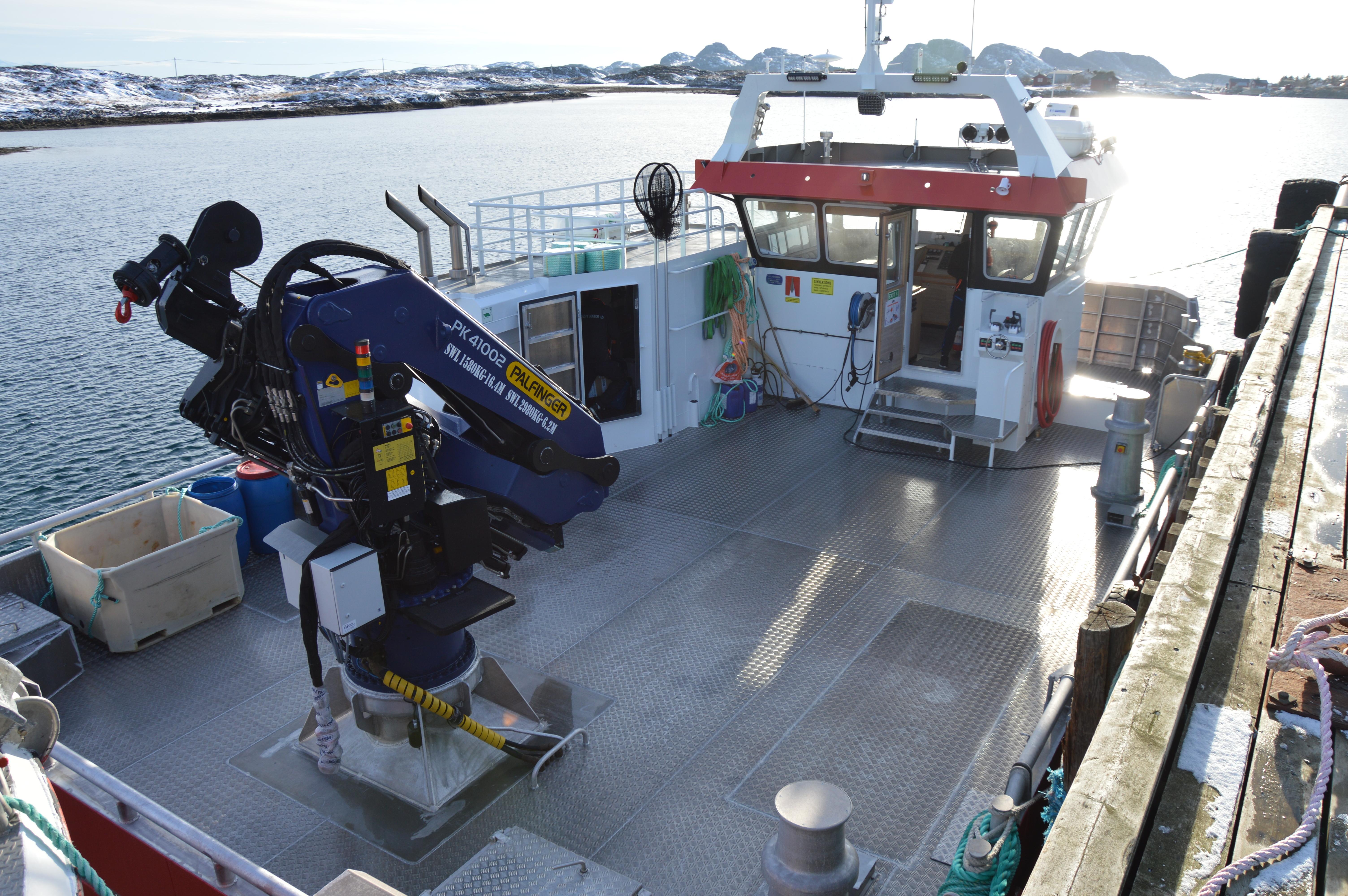 Ny båt til Seløy Sjøfarm_dekk
