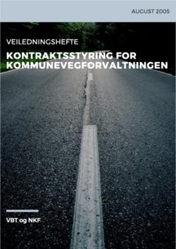 Forside Kontraktsstyring for kommunevegforvaltningen