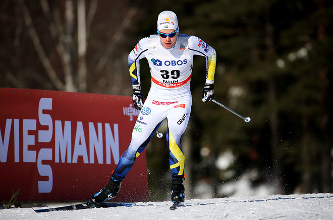 VIKTOR THORN var en av 8 svenska åkare som tog sig vidare från kvalet i världscupen i Falun. Han var stark 10:a. Foto/rights: MARCELA HAVLOVA/KEK-stock
