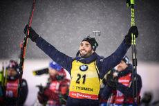 22.03.2018, Tyumen, Russia (RUS):Martin Fourcade (FRA) - IBU world cup biathlon, sprint men, Tyumen (RUS). www.nordicfocus.com. © Tumashov/NordicFocus. Every downloaded picture is fee-liable.