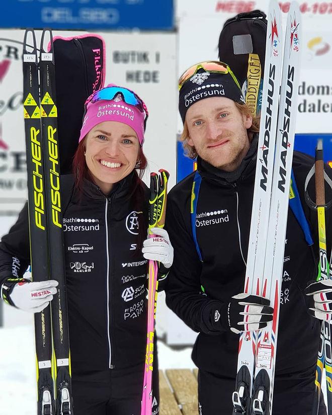ÖVERLÄGSET SM-GULD i den mixade stafetten blev det till Biathlon Östersund genom Elisabeth Högberg och Torstein Stenersen vid tävlingarna i Hede.