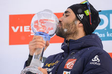 25.03.2018, Tyumen, Russia (RUS):Martin Fourcade (FRA) - IBU world cup biathlon, cups, Tyumen (RUS). www.nordicfocus.com. © Tumashov/NordicFocus. Every downloaded picture is fee-liable.
