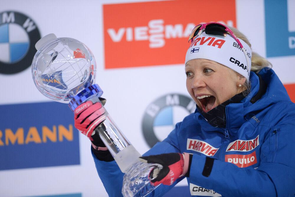 25.03.2018, Tyumen, Russia (RUS):Kaisa Makarainen (FIN) - IBU world cup biathlon, mass women, Tyumen (RUS). www.nordicfocus.com. © Tumashov/NordicFocus. Every downloaded picture is fee-liable.