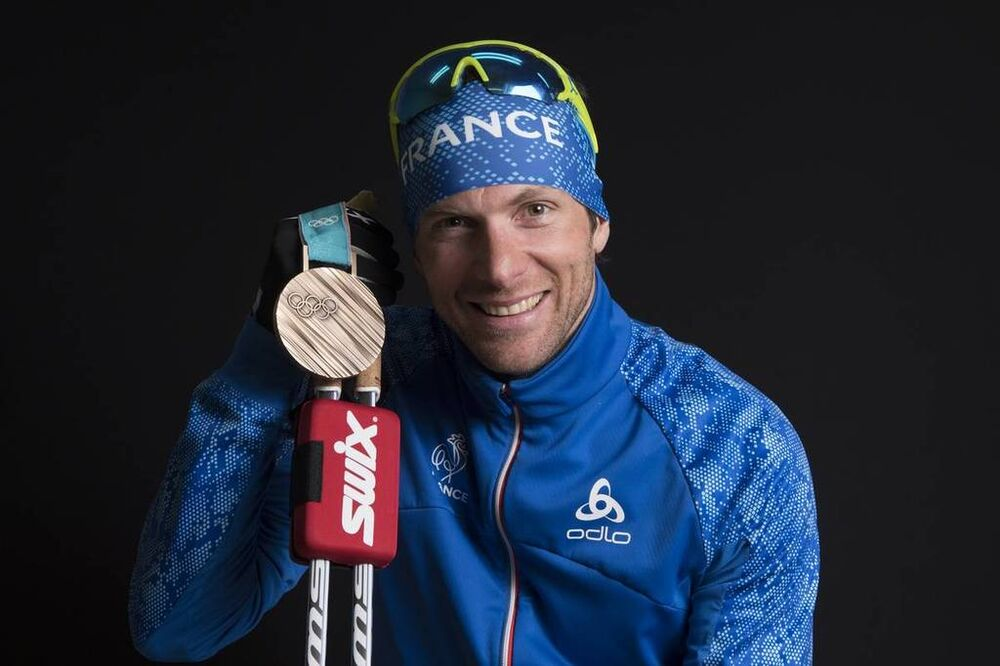 23.02.2018, Pyeongchang, Korea (KOR):Jean Marc Gaillard (FRA) - XXIII. Olympic Winter Games Pyeongchang 2018, cross-country, medals, Pyeongchang (KOR). www.nordicfocus.com. © Thibaut/NordicFocus. Every downloaded picture is fee-liable.