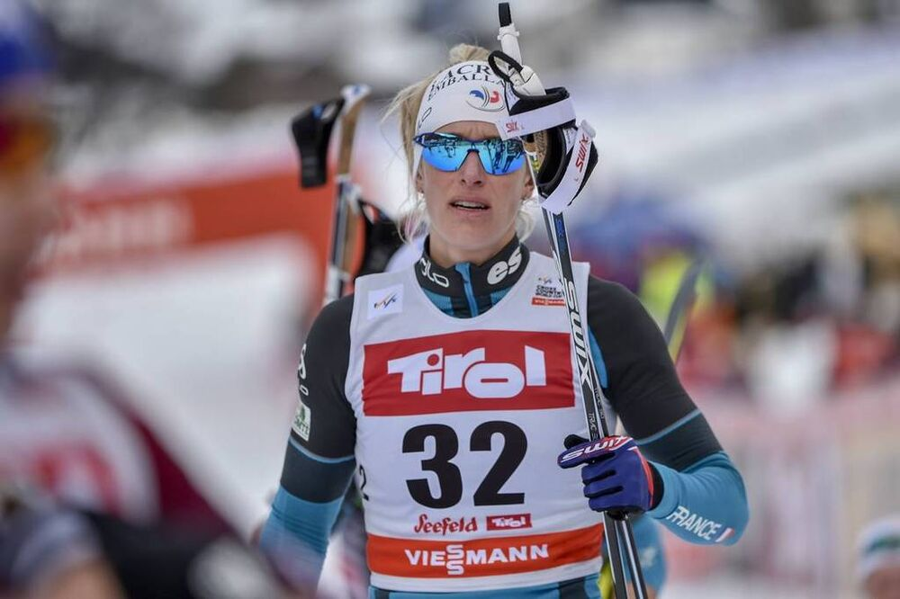 28.01.2018, Seefeld, Austria (AUT):Aurore Jean (FRA) - FIS world cup cross-country, mass women, Seefeld (AUT). www.nordicfocus.com. © Thibaut/NordicFocus. Every downloaded picture is fee-liable.