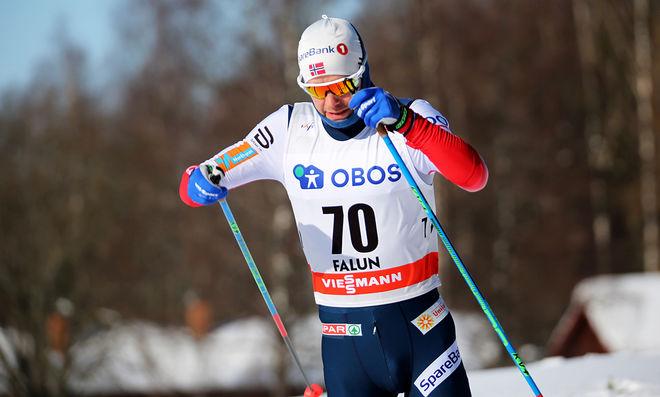 SJUR RØTHE kom tillbaka efter en svår säsong och blev norsk mästare på 10 km klassisk stil. Här från världscupfinalen i Falun. Foto/rights: MARCELA HAVLOVA/KEK-stock