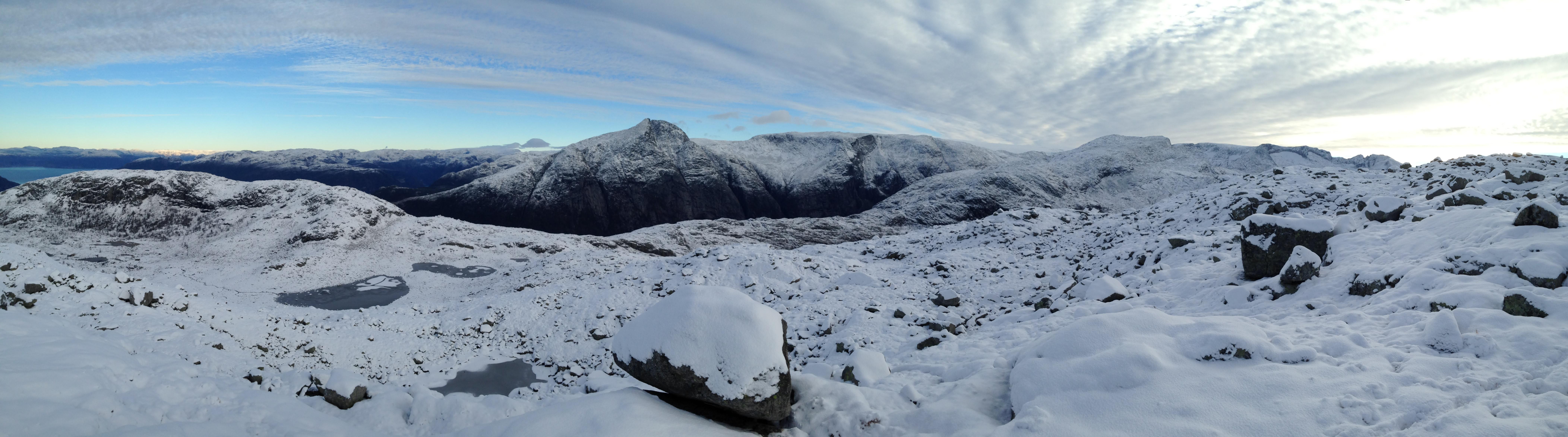 Panorama snø
