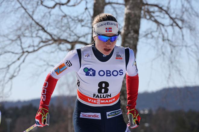ASTRID UHRENHOLDT JACOBSEN har bestämt sig för att satsa vidare - åtminstone ett år till. Här från världscupfinalen i Falun. Foto/righst: MARCELA HAVLOVA/KEK-stock
