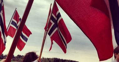 Speidernes flaggborg, foto Hilde Fougner