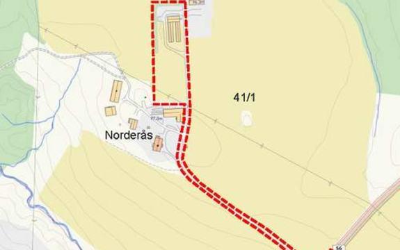 Norderås, planavgrensning