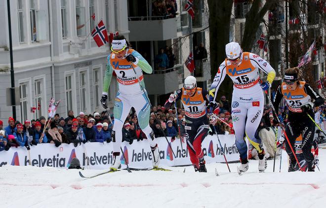 FIS BESLUTADE under onsdagen att behålla den klassiska sprinten. Här från Drammen med Katja Visnar och Ida Ingemarsdotter i täten. Foto/rights: ÅGE KRISTIANSEN/KEK-stock