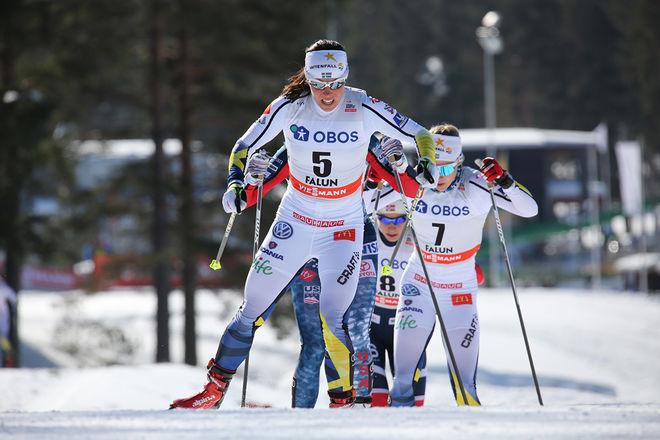 CHARLOTTE KALLAs stora mål den kommande säsongen är VM i Seefeld. Därför kommer hon troligen att skippa Tour de Ski än en gång. Här från världscupfinalen i Falun i vintras. Foto/rights: MARCELA HAVLOVA/KEK-stock