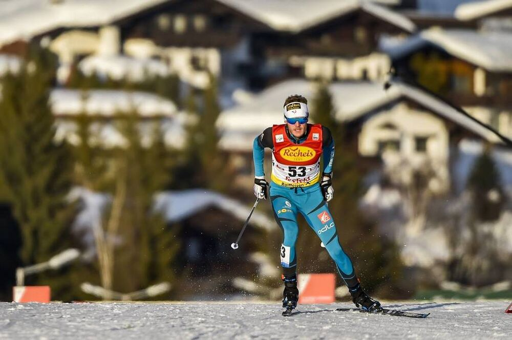 26.01.2018, Seefeld, Austria (AUT):Hugo Buffard (FRA) - FIS world cup nordic combined, individual gundersen HS109/5km, Seefeld (AUT). www.nordicfocus.com. © Thibaut/NordicFocus. Every downloaded picture is fee-liable.