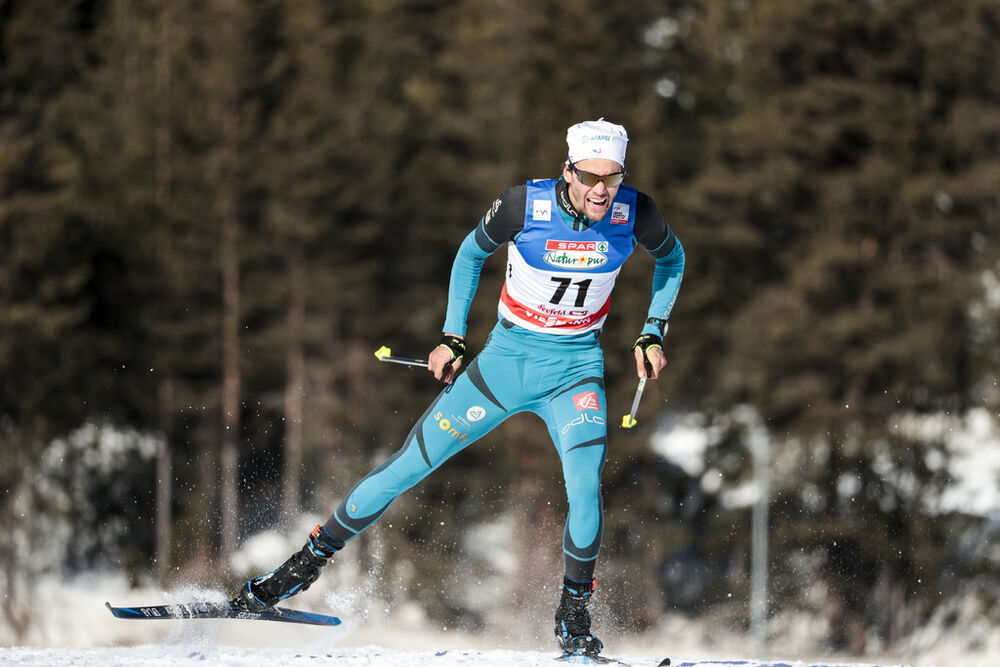 27.01.2018, Seefeld, Austria (AUT):Jean Tiberghien (FRA) - FIS world cup cross-country, individual sprint, Seefeld (AUT). www.nordicfocus.com. © Modica/NordicFocus. Every downloaded picture is fee-liable.