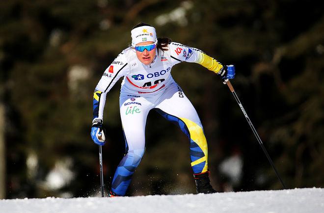 LANDSLAGSÅKAREN Maria Nordström byter klubb från Ulricehamns IF till Borås SK. Här från världscupfinalen i Falun i vintras. Foto/rights: MARCELA HAVLOVA/KEK-stock