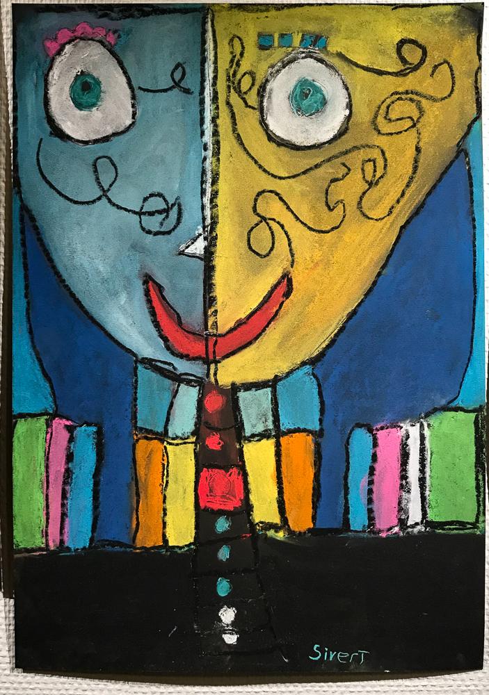 Bilde malt av Sivert Kulturskolen høsten 2017