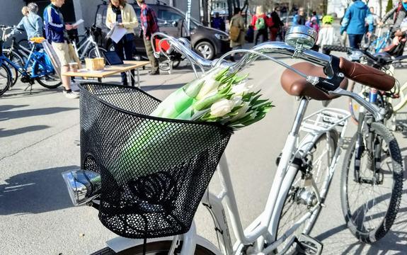 Fotografi fra sykkeldagen 2018