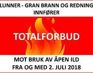 Totalforbud mot åpen ild 2018