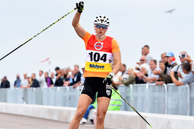 STORFAVORITEN Linn Sömskar vann till slut ganska komfortabelt i SM-sprinten i Helsingborg. Foto: ROLF ZETTERBERG