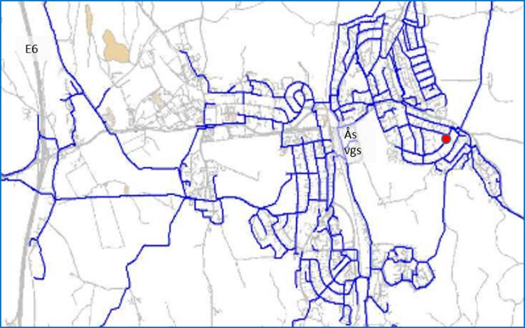 Kart ledningsnett vannmålinger