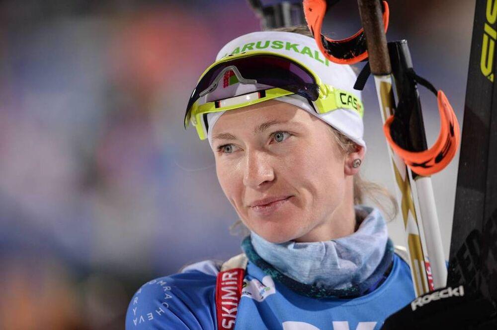 25.03.2018, Tyumen, Russia (RUS):Darya Domracheva (BLR) - IBU world cup biathlon, mass women, Tyumen (RUS). www.nordicfocus.com. © Tumashov/NordicFocus. Every downloaded picture is fee-liable.
