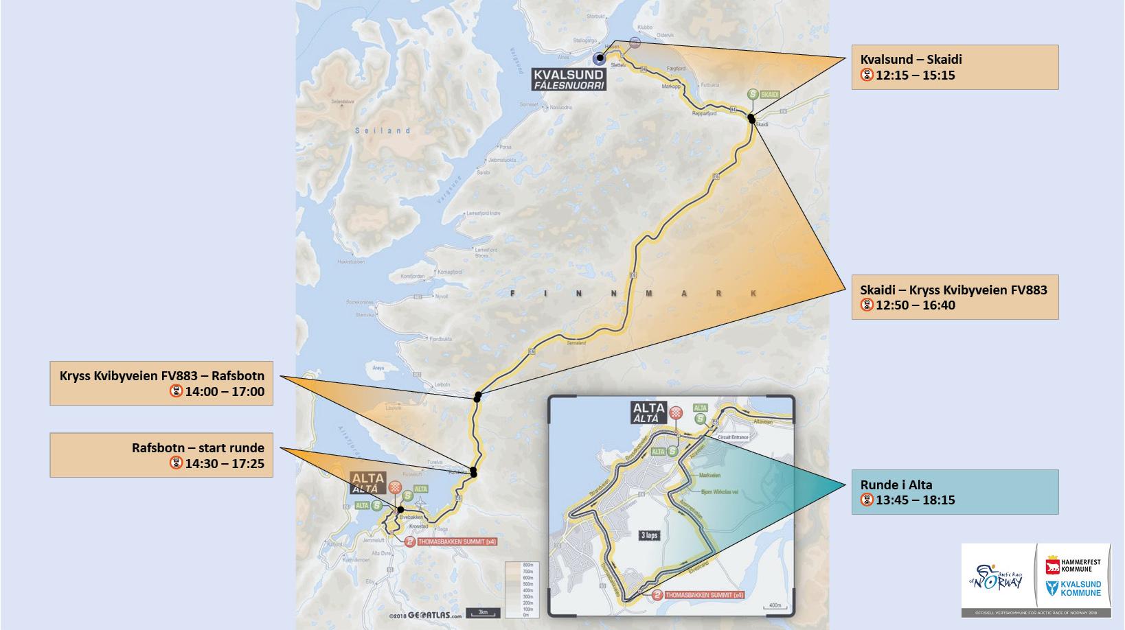 kart over stengte veier Praktisk info   Hammerfest kommune kart over stengte veier