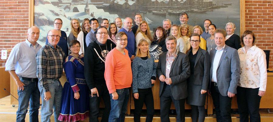 Gruppebilde av kommunestyret i Hammerfest kommune