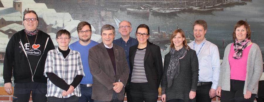 Gruppebilde av formannskapet i Hammerfest kommune 2016