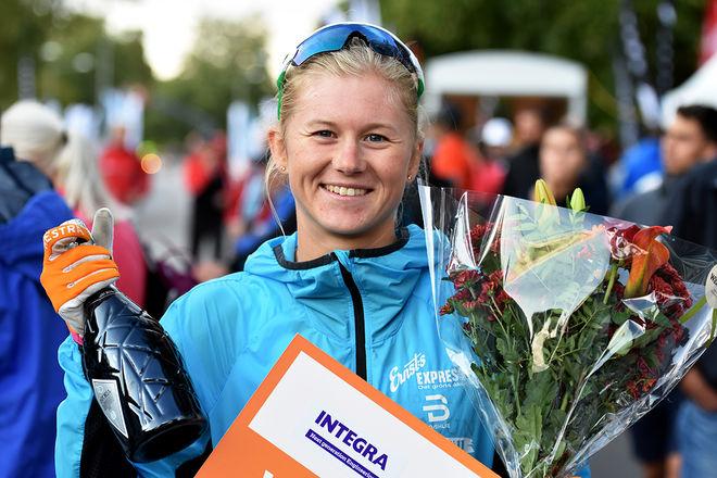 MAJA DAHLQVIST, Falun Borlänge SK försvarade segern i supersprinten i Trollhättan. Hon slog Jackline Locker, HIF i fnalen. Foto: ROLF ZETTERBERG