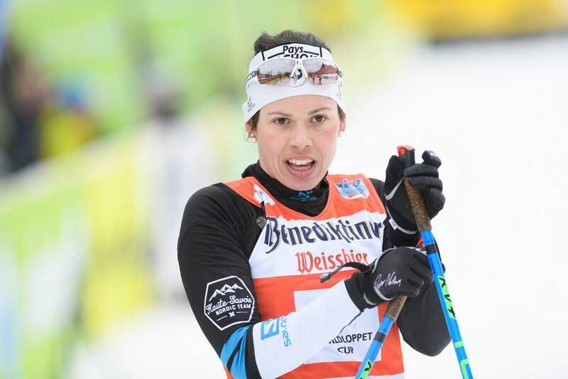 04.02.2018, Oberammergau, Germany (GER):Aurelie Dabudyk (FRA) - FIS World Loppet Cup Koenig Ludwig Lauf, Oberammergau (GER). www.nordicfocus.com. © Rauschendorfer/NordicFocus. Every downloaded picture is fee-liable.