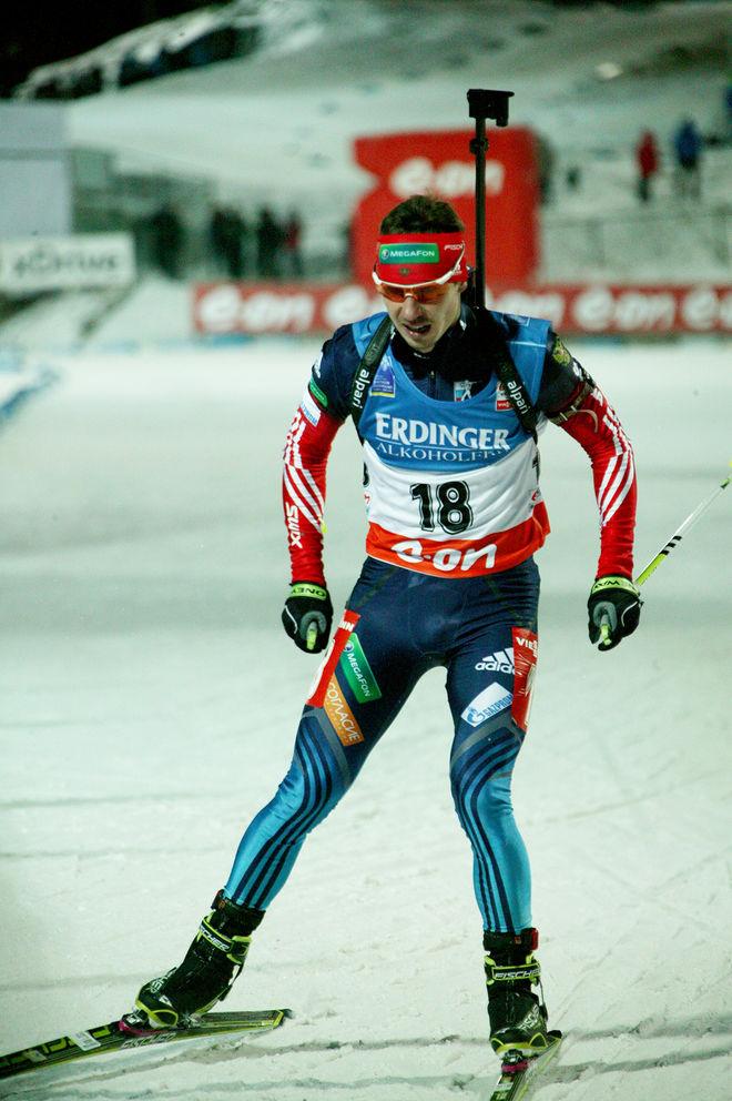 EVGENIY USTIUGOV skall vara en av dom fyra ryska skidskyttar som nu är avslöjade som dopingfuskare. Han vann OS-guldet i masstart i 2010 och har två guld i stafett. Här från världscupen i Östersund 2013. Foto/rights: MARCELA HAVLOVA/KEK-stock