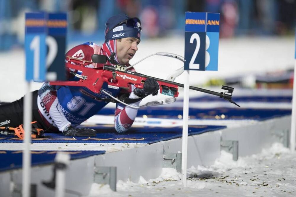 08.03.2018, Kontiolahti, Finland (FIN):Ole Einar Bjoerndalen (NOR) -  IBU world cup biathlon, sprint men, Kontiolahti (FIN). www.nordicfocus.com. © Manzoni/NordicFocus. Every downloaded picture is fee-liable.