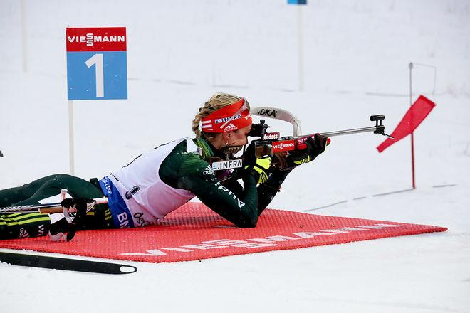 DENISE HERRMANN och dom andra tyska skidskyttarna får åka VM på hemmaplan i Oberhof om dom håller på till 2023. Foto/rights: MARCELA HAVLOVA/KEK-stock