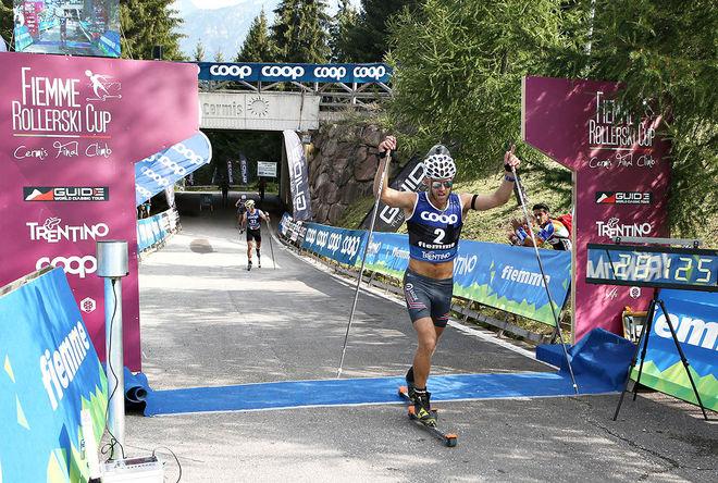 TORD ASLE GJERDALEN var starkast i den tuffa avslutningen uppför Alpe Cermis och vann det 50 km långa rullskidsloppet i Val di Fiemme under söndagen. Foto: NEWSPOWER.IT