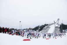 11.03.2018, Oslo, Norway (NOR):Heidi Weng (NOR), Ingvild Flugstad Oestberg (NOR), Teresa Stadlober (AUT), Krista Parmakoski (FIN), Jessica Diggins (USA), Charlotte Kalla (SWE), Marit Bjoergen (NOR), Ragnhild Haga (NOR), Kerttu Niskanen (FIN), Sadie Bjorn