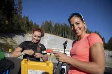 09.10.2018, Ramsau, Austria (AUT):Dorothea Wierer (ITA), Lisa Vittozzi (ITA), (l-r) - Nordic Preparation Week, Ramsau (AUT). www.nordicfocus.com. © Manzoni/NordicFocus. Every downloaded picture is fee-liable.