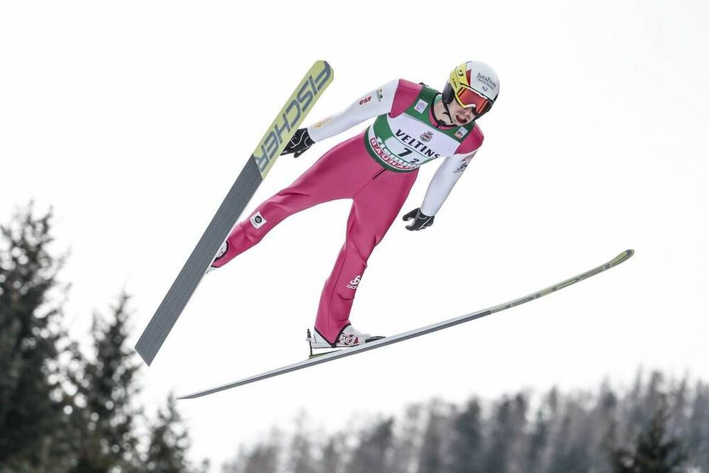 13.01.2018, Val di Fiemme, Italy (ITA):Maxime Laheurte (FRA) - FIS world cup nordic combined, team sprint HS134/2x7.5km, Val di Fiemme (ITA). www.nordicfocus.com. © Modica/NordicFocus. Every downloaded picture is fee-liable.