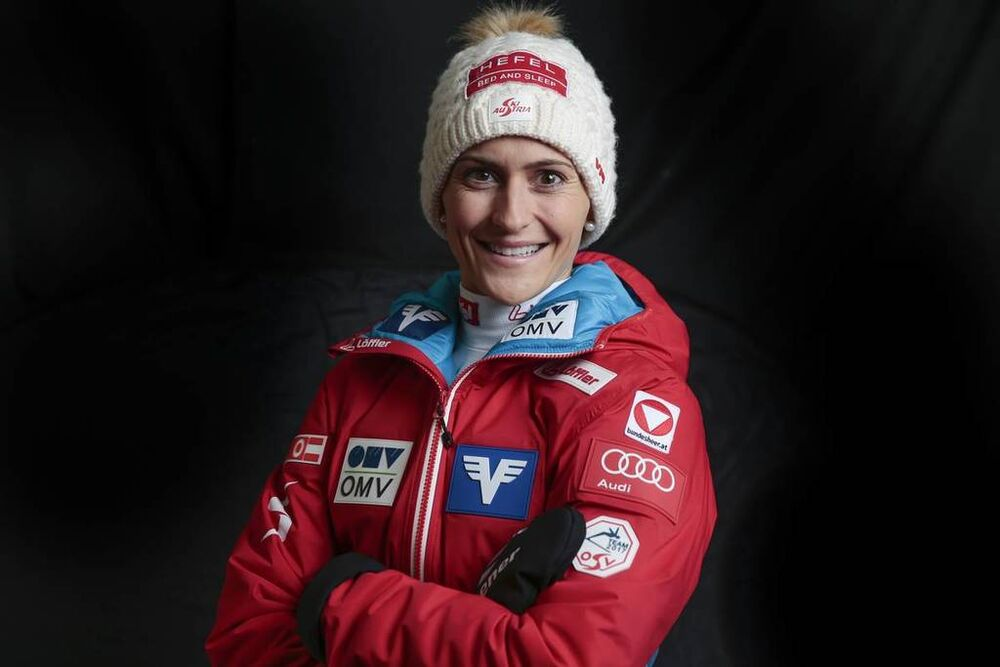 03.12.2016, Lillehammer, Norway, (NOR):Eva Pinkelnig (AUT) - FIS world ski jumping, photoshooting, Ruka (FIN). www.nordicfocus.com. © Modica/NordicFocus. Every downloaded picture is fee-liable.