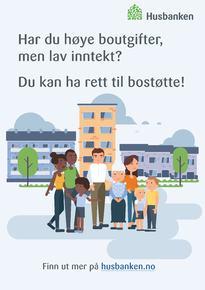 Bostøtte plakat
