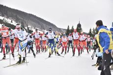 12.02.2017, Morez, France (FRA):robin Duvillard (FRA), adrien Mougel (FRA), Benoit Chauvet (FRA) - FIS Marathon Cup LaTransjurassienne, Morez (FRA). www.nordicfocus.com. © Thibaut/NordicFocus. Every downloaded picture is fee-liable.